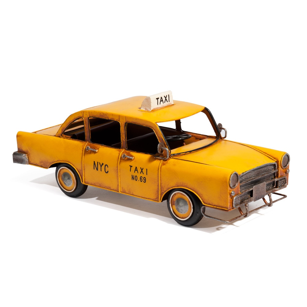 taxi d co en m tal jaune 14 x 34 cm nyc maisons du monde. Black Bedroom Furniture Sets. Home Design Ideas