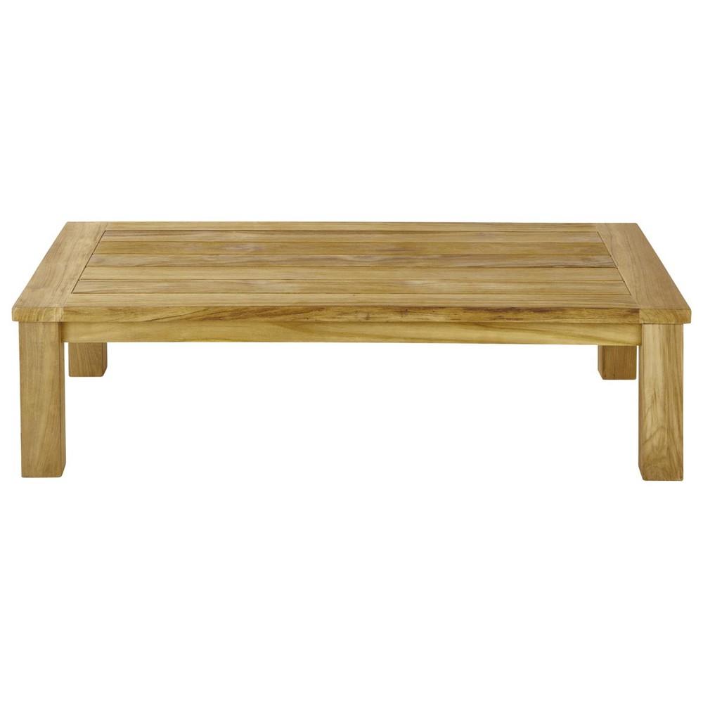 Teak Garden Coffee Table W 130cm Belle Ile Maisons Du Monde