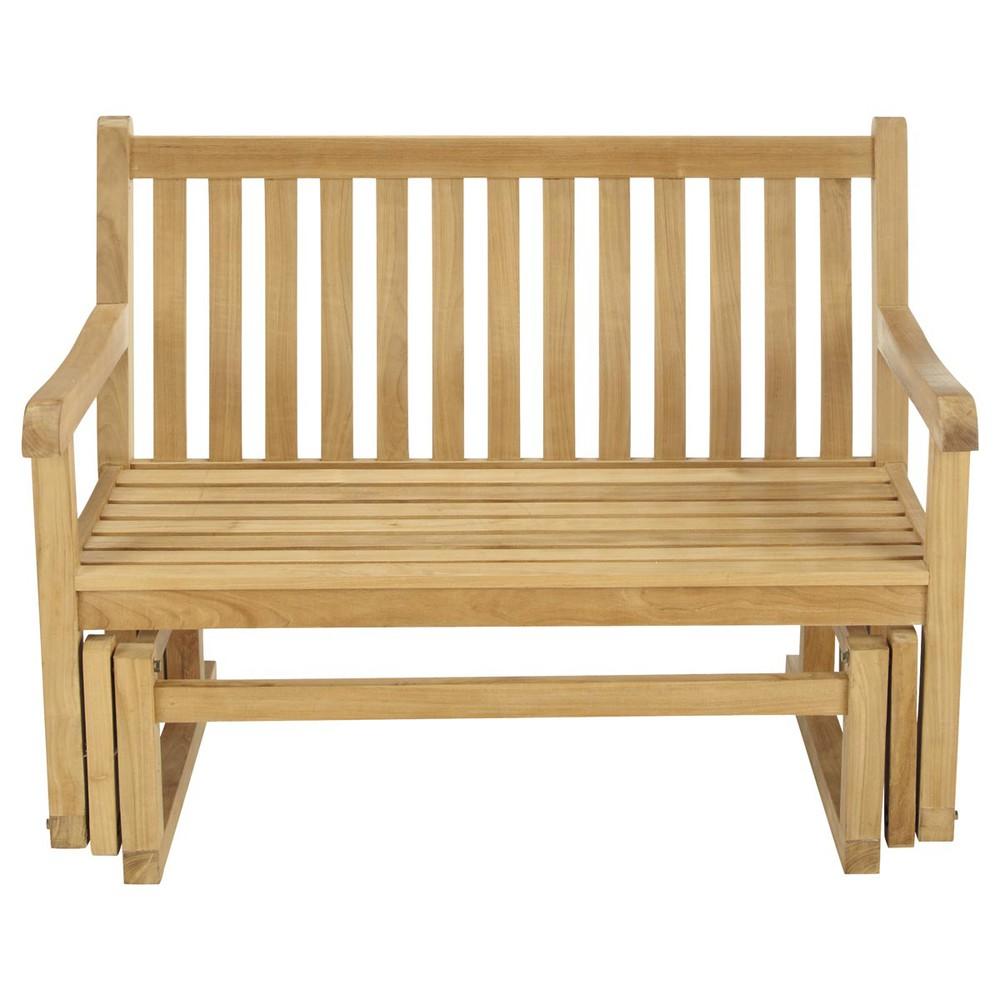teak garden rocking bench la rochelle la rochelle maisons du monde. Black Bedroom Furniture Sets. Home Design Ideas