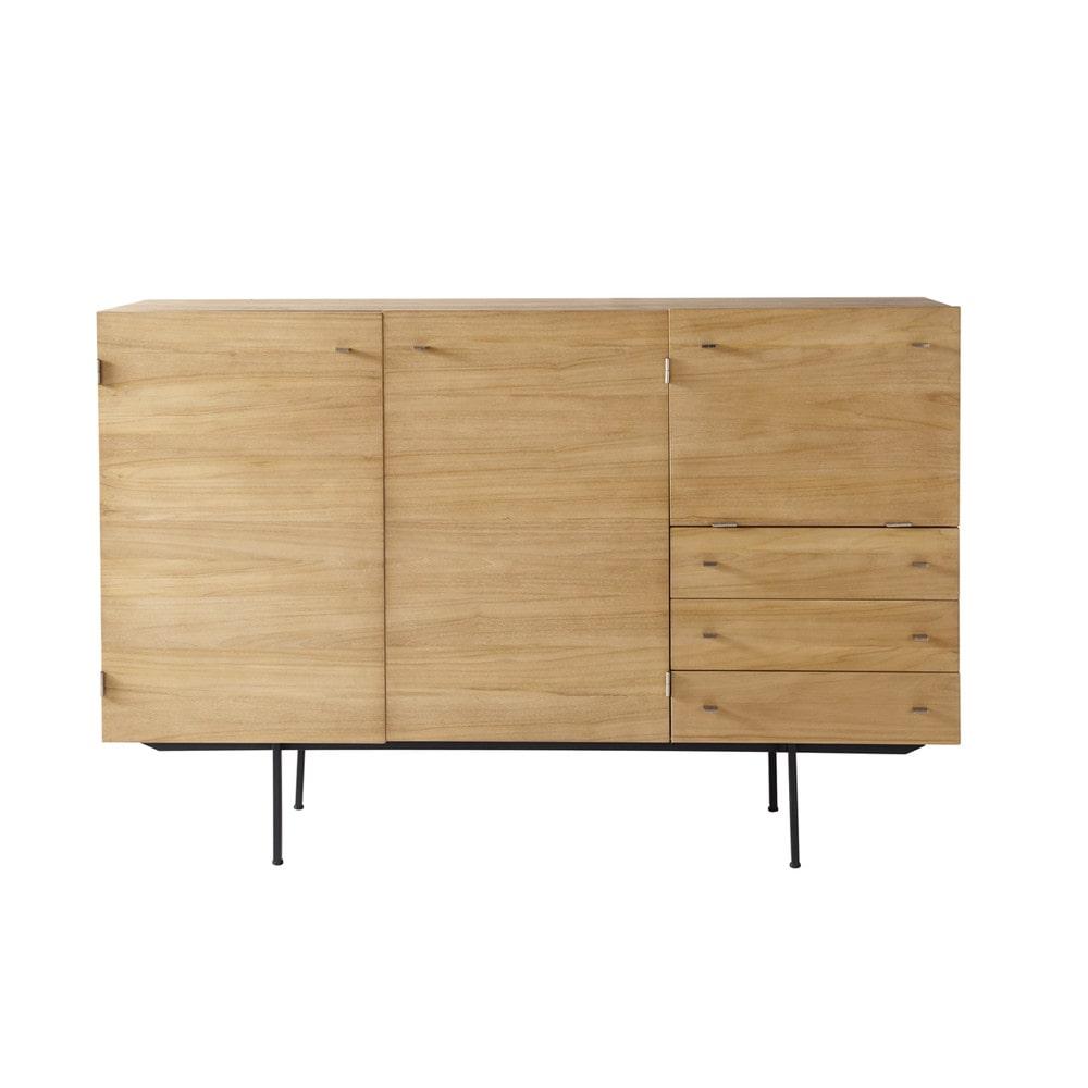 teakhouten vintage dressoir b 180 cm guariche maisons du monde. Black Bedroom Furniture Sets. Home Design Ideas