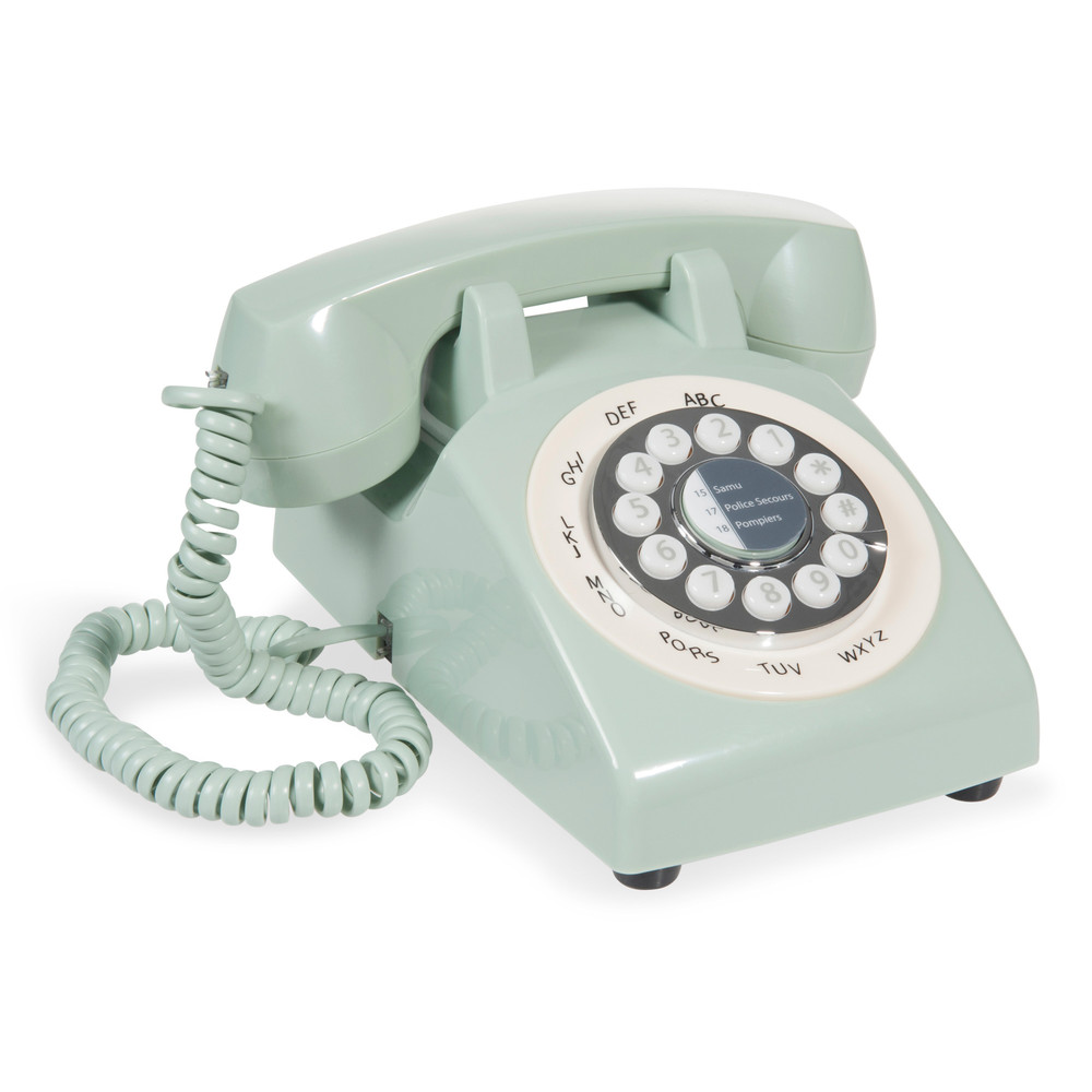 Finest tlphone vintage en plastique vert pastel with for Maison du monde waves metz