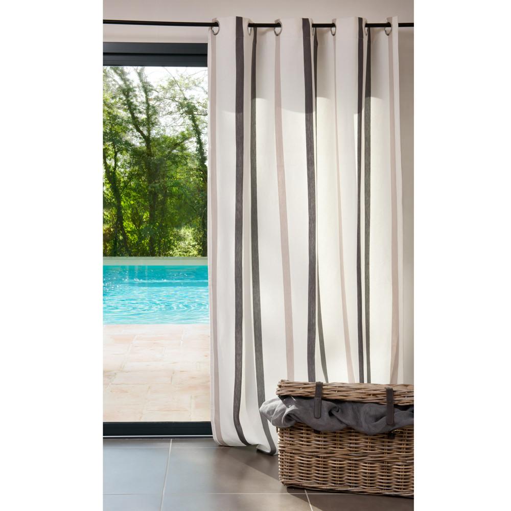 Tenda a righe in cotone con occhielli 150 x 250 cm URBAN  Maisons du ...