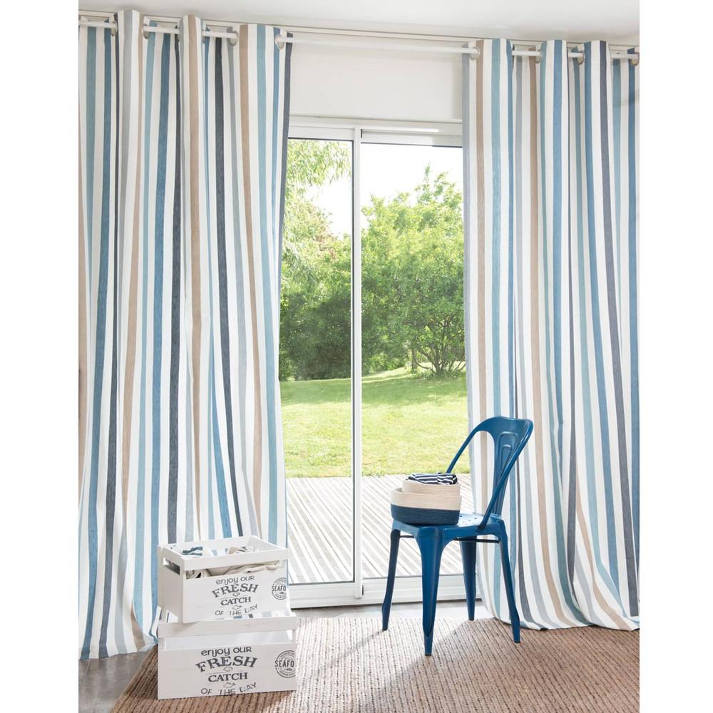 Tenda a righe in cotone rivet 140 x 250 cm maisons du monde - Maison du monde cortinas ...