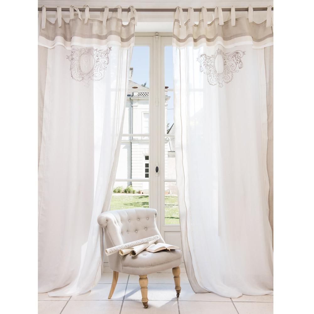 Tenda in lino con passanti 140 x 270 cm valone maisons - Tende camera da letto maison du monde ...