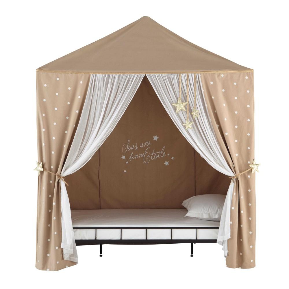 tente enfant pois en coton beige 200 x 250 cm manosque maisons du monde. Black Bedroom Furniture Sets. Home Design Ideas