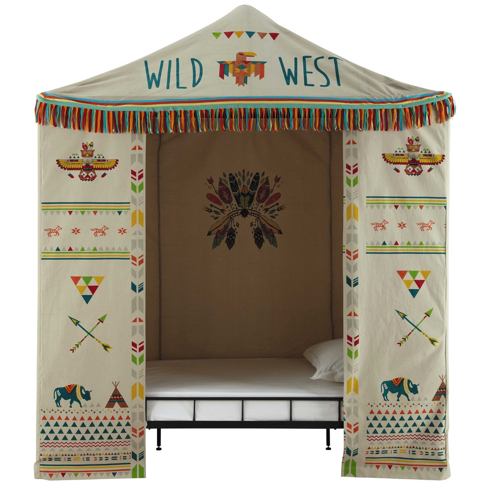 tente enfant en coton multicolore 100 x 200 cm farwest. Black Bedroom Furniture Sets. Home Design Ideas