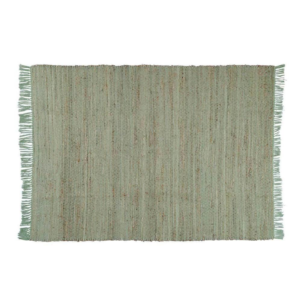 Teppich aus Baumwolle und Jute grün 160 x 230 LODGE