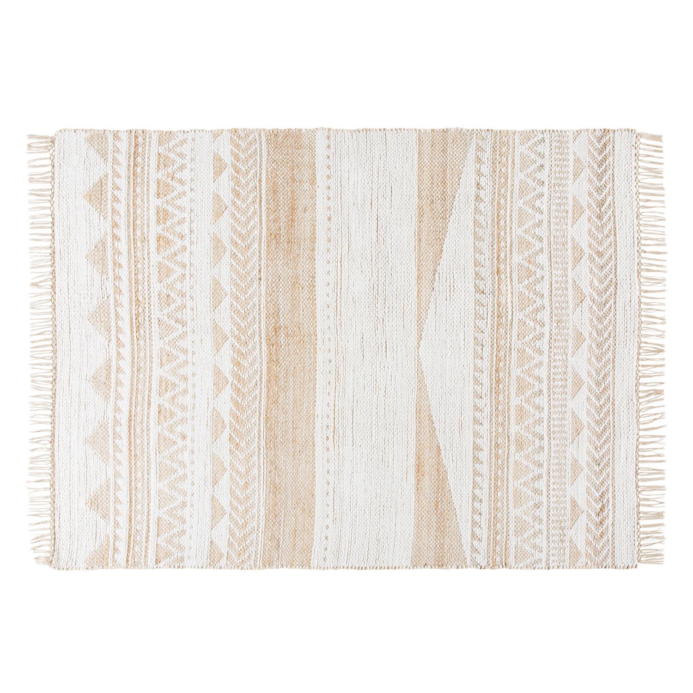 Teppich Aus Jute Und Baumwolle Mit Grafischen Motiven 140x200