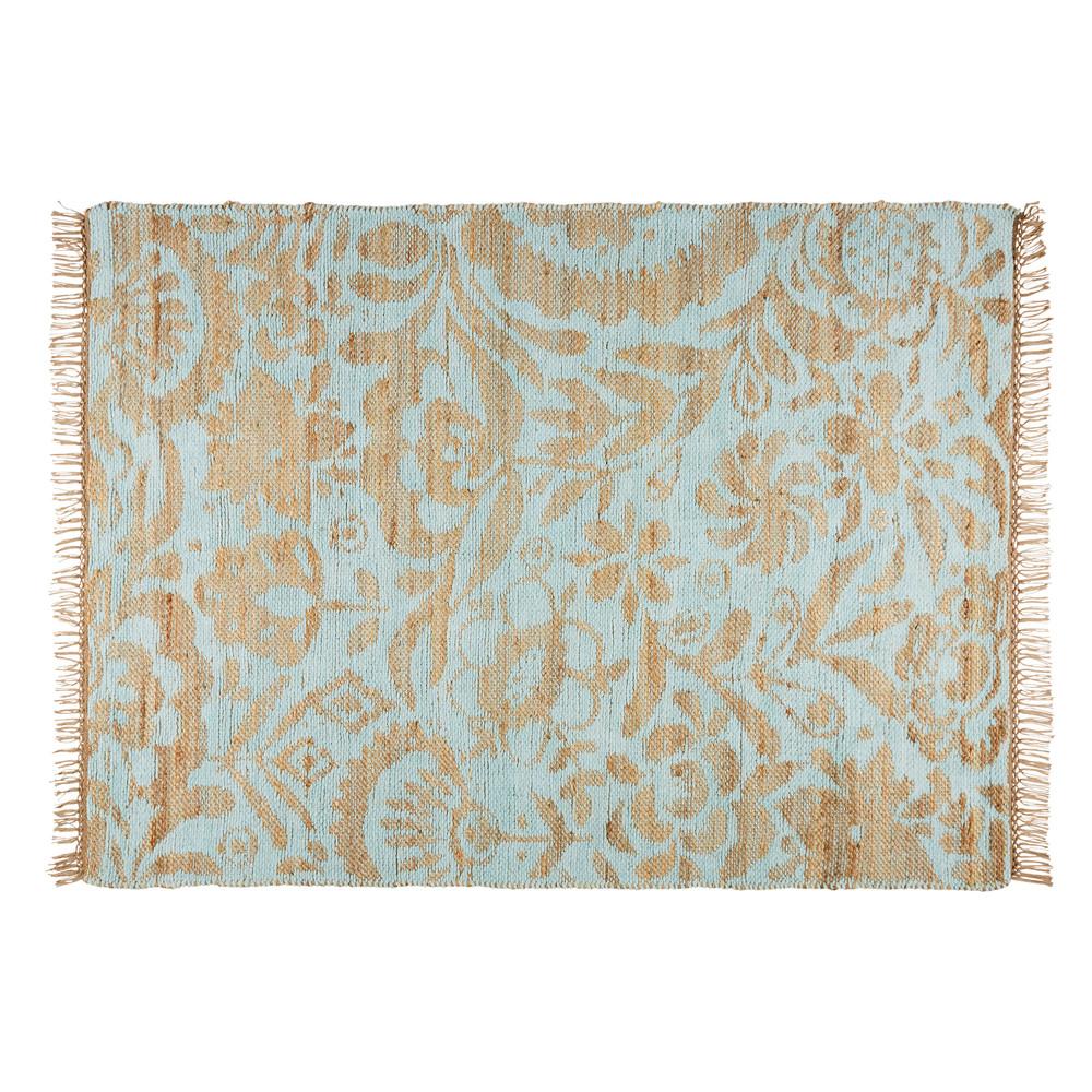 Teppich aus jute und seegr ner baumwolle 140x200cm lukila - Teppich jungenzimmer ...