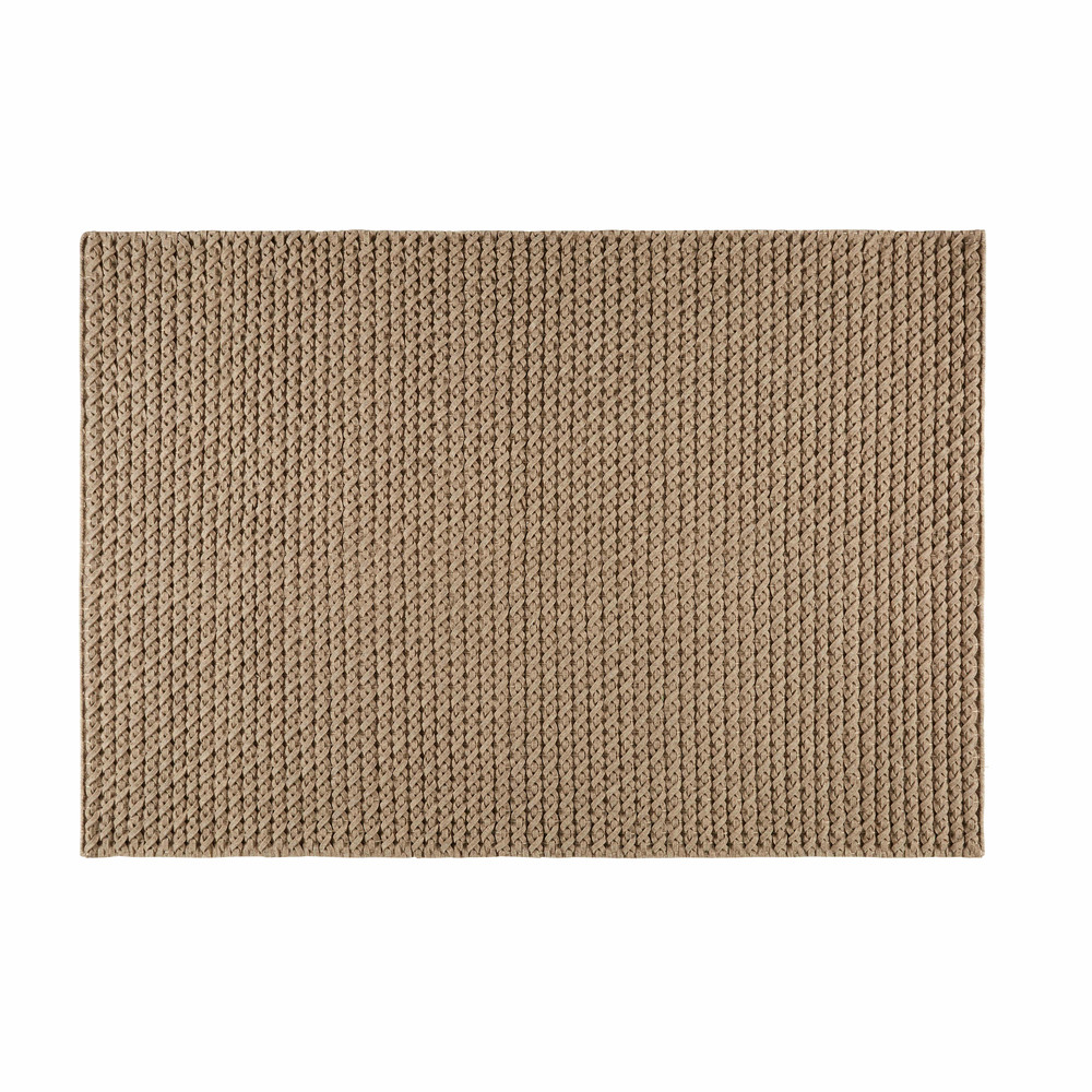 Teppich aus Wolle und Baumwolle taupe 140x200cm MOJAVE