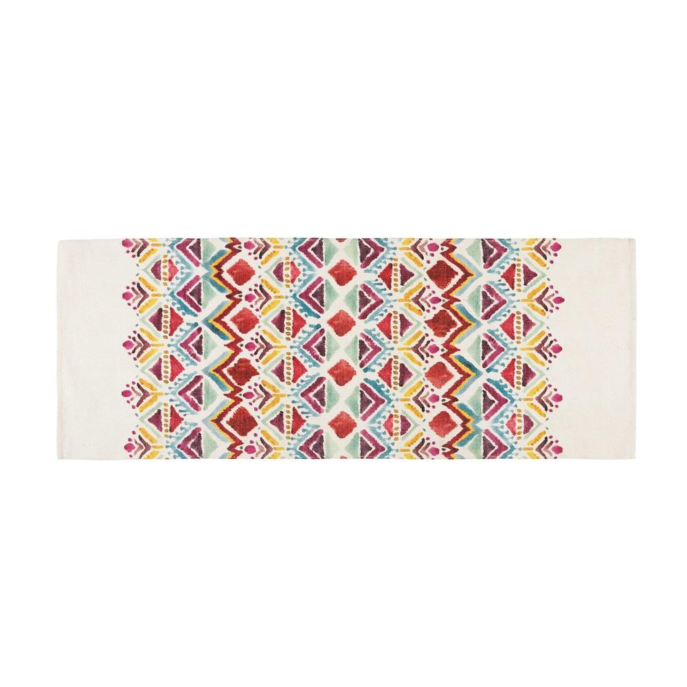 Teppich mit buntem EthnoMuster bedruckt 80x200cm