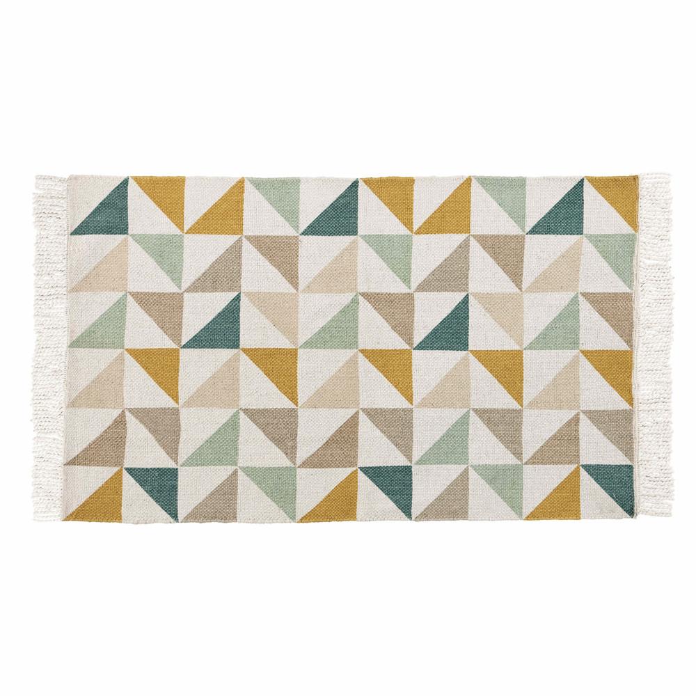 Teppich mit Dreieckmuster aus Baumwolle 60 x 100 cm GASTON