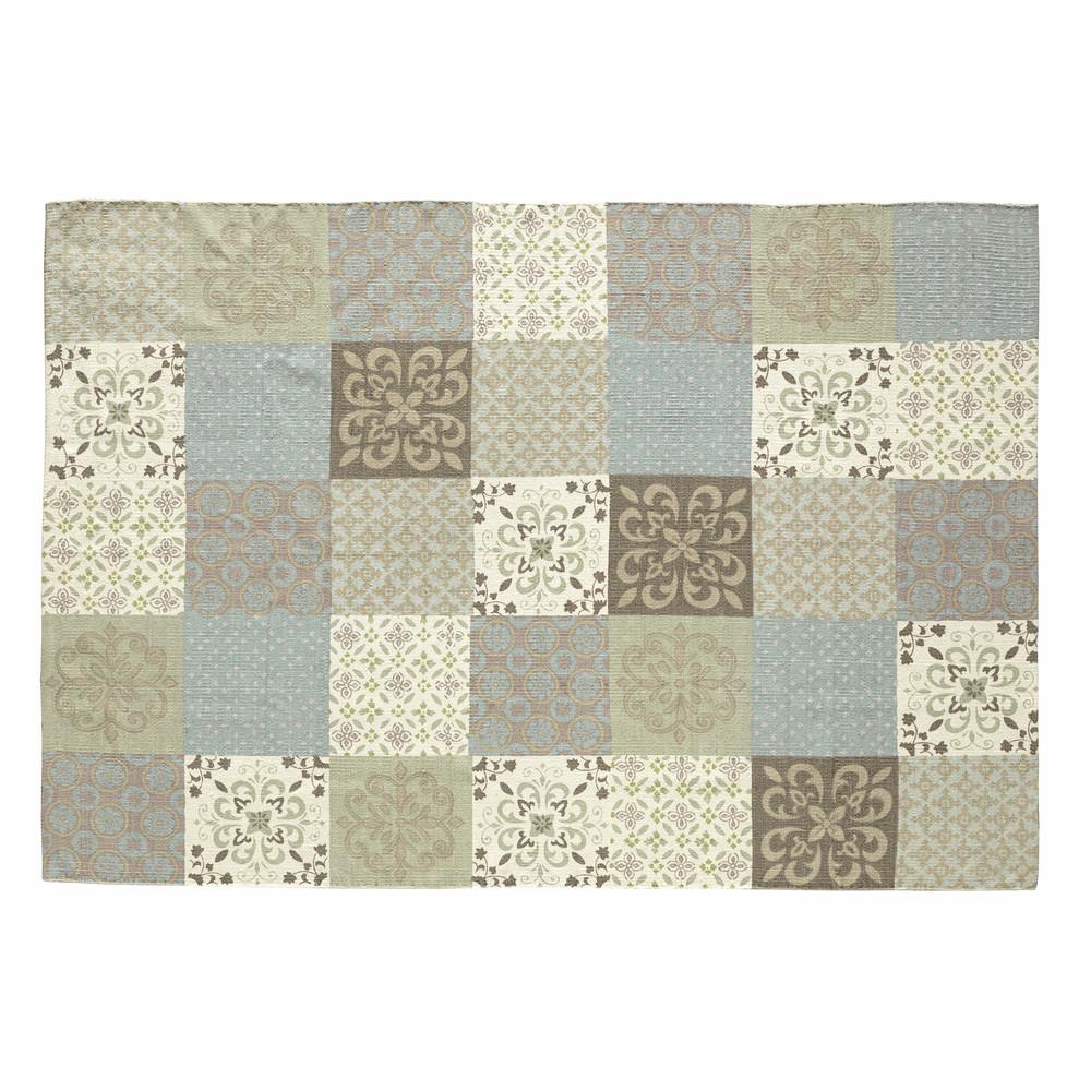 Teppich mit Fliesenmotiv 160 x 230 cm PROVENCE  Maisons