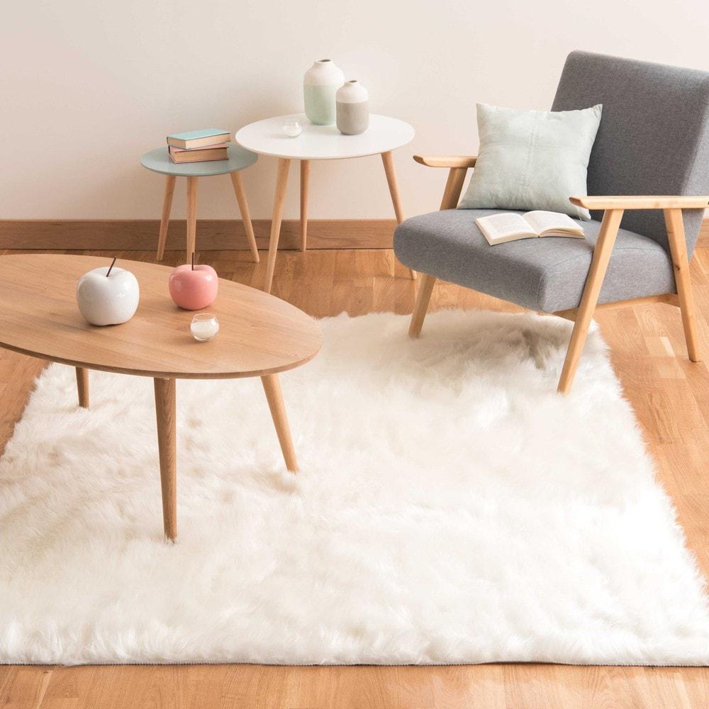 teppich oumka aus kunstfell wei 160x230 maisons du monde. Black Bedroom Furniture Sets. Home Design Ideas