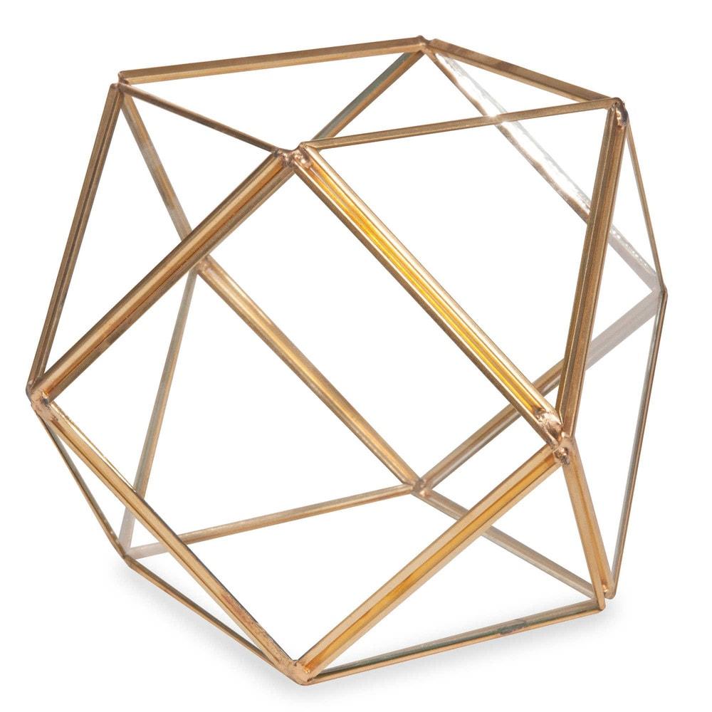 terrarium en m tal et verre h 12 cm facettes maisons du monde. Black Bedroom Furniture Sets. Home Design Ideas