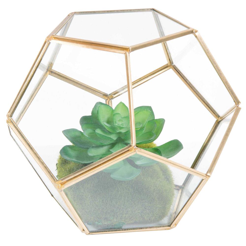 terrarium en m tal et verre h 15 cm jungle maisons du monde. Black Bedroom Furniture Sets. Home Design Ideas