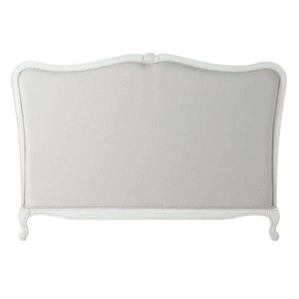 Testata da letto 180 in cotone beige e pino bianco - Testata letto maison du monde ...