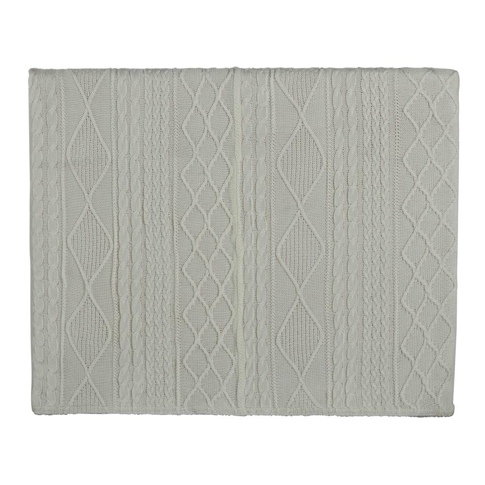 Testata da letto bianca in tessuto lavorato a maglia 140 for Cuscini testata letto maison du monde