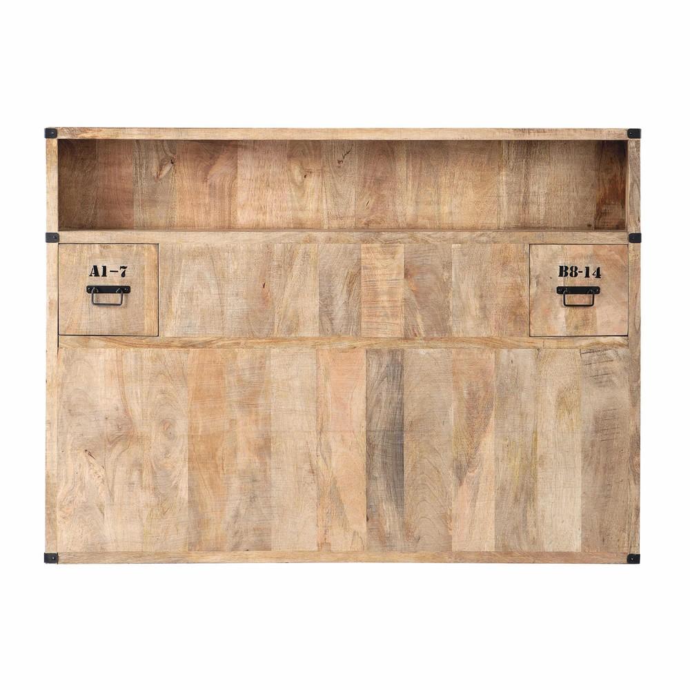 Testata da letto con contenitori in massello di mango l 140 cm manufacture maisons du monde - Testiera letto maison du monde ...