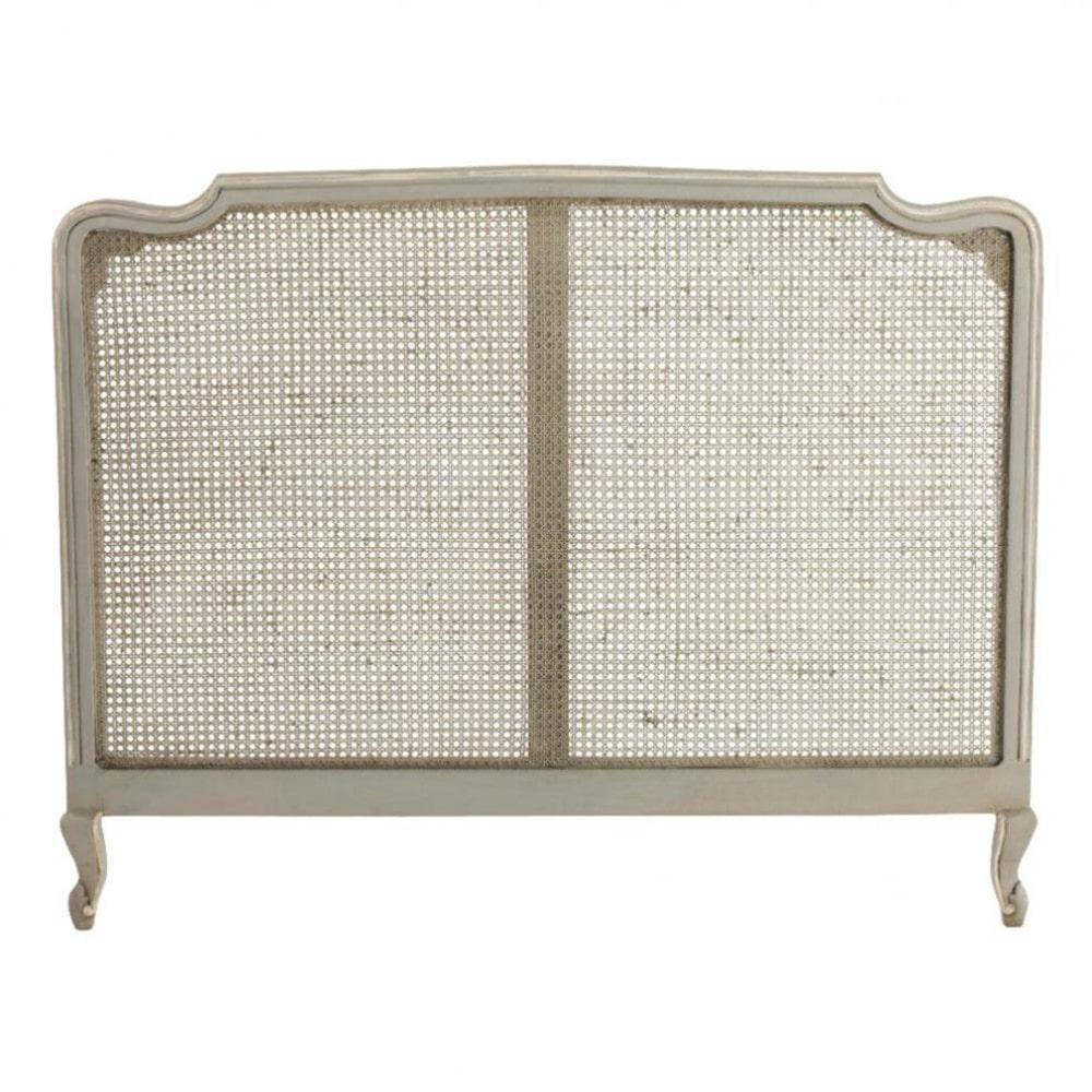 Testata da letto grigia in mango l 160 cm beaumanoir for Cuscini testata letto maison du monde