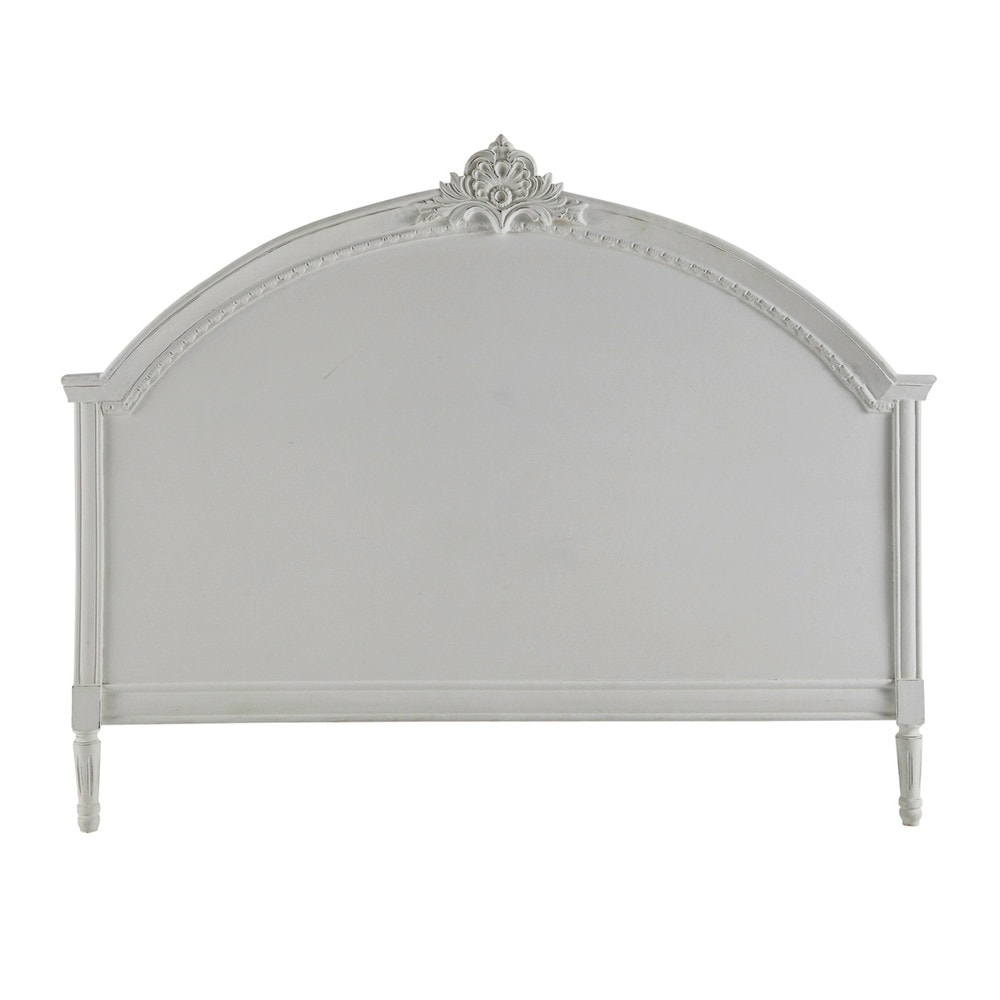 Testata da letto grigia in mango l 160 cm m dicis for Cuscini testata letto maison du monde