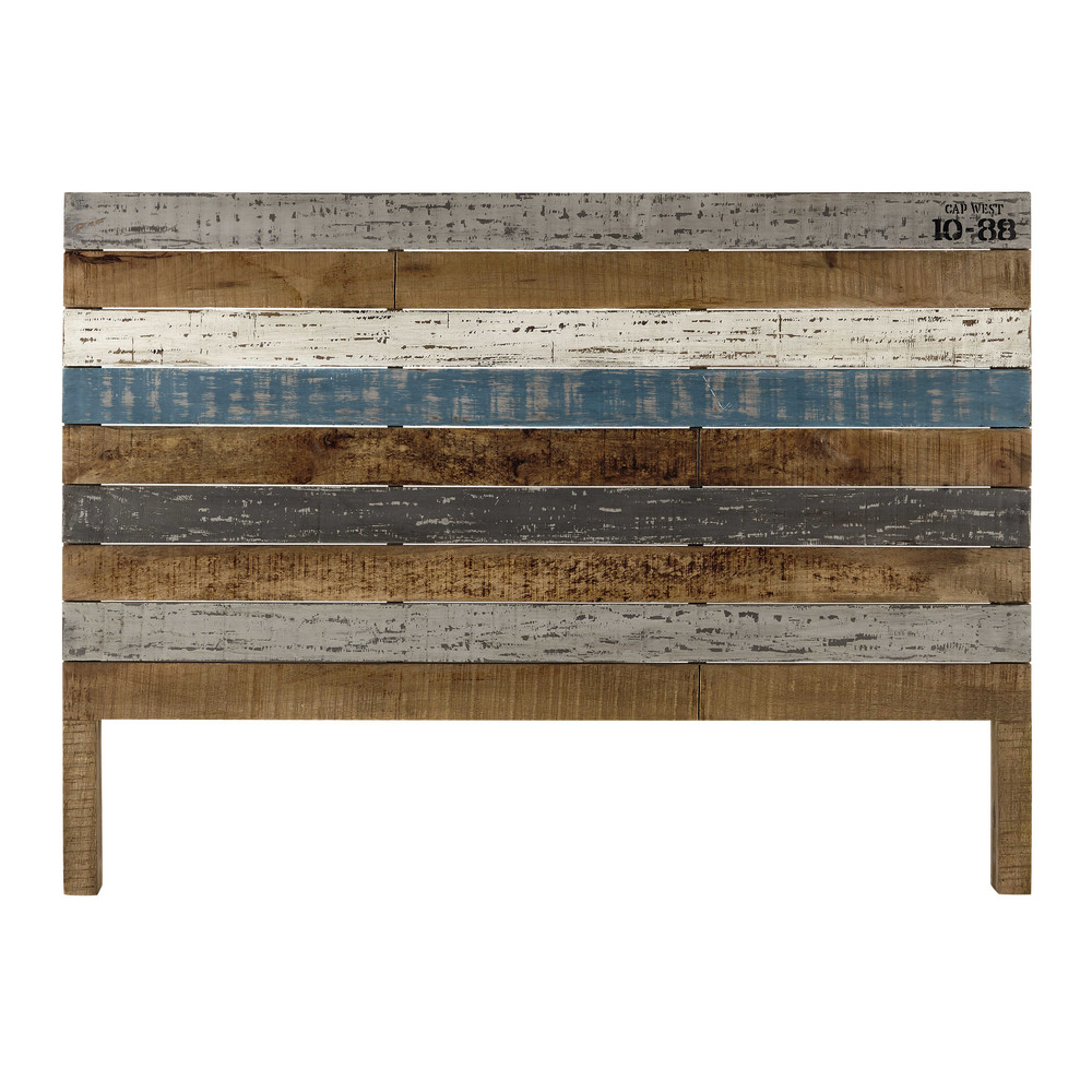 Testata da letto in listelli di mango 160 cm sailor for Cuscini testata letto maison du monde