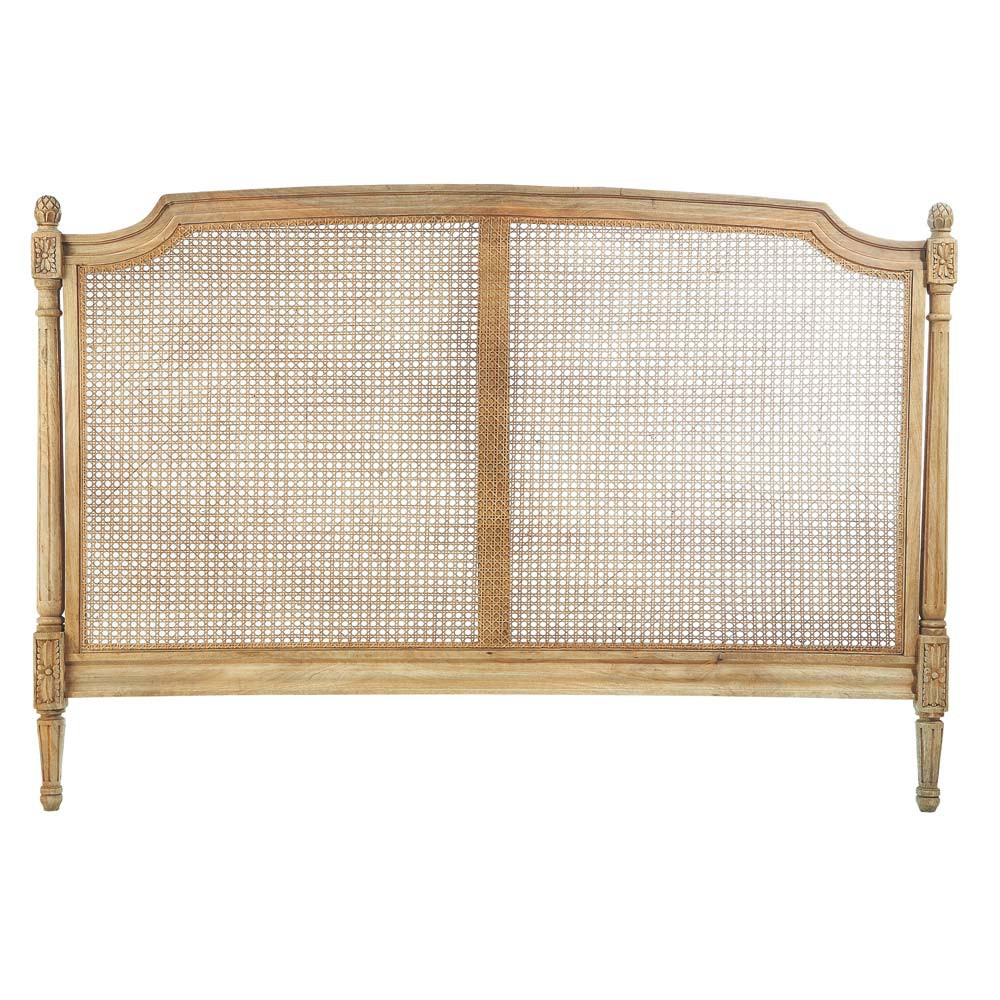 Testata da letto in mango l 160 cm colette maisons du monde for Cuscini testata letto maison du monde