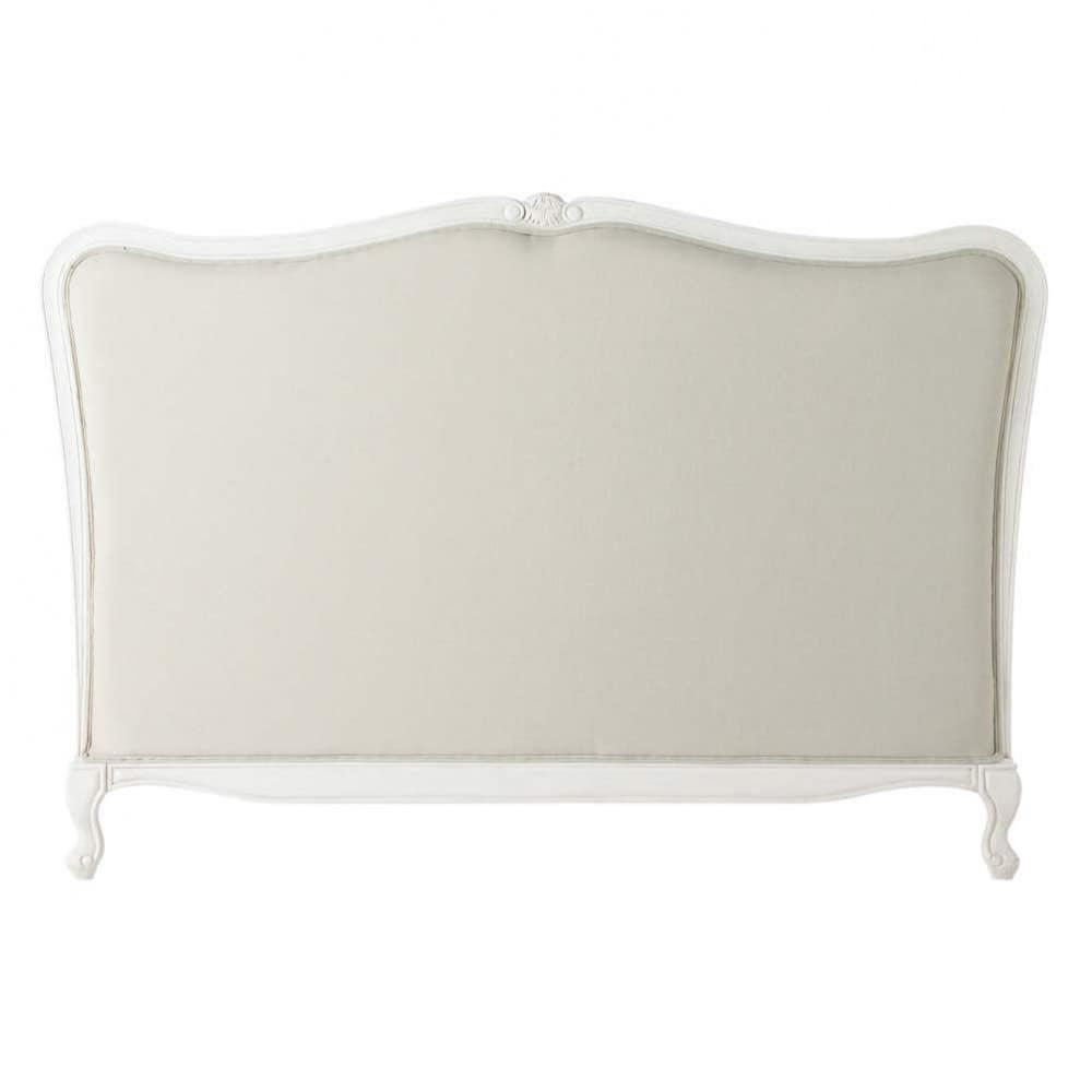 Testata da letto in massello di legno e cotone l 160 cm - Testata letto maison du monde ...