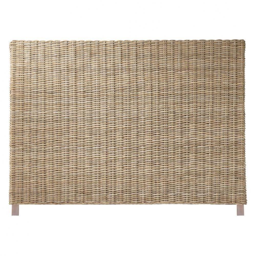 testata da letto in rattan kubu e massello di mogano l 160. Black Bedroom Furniture Sets. Home Design Ideas
