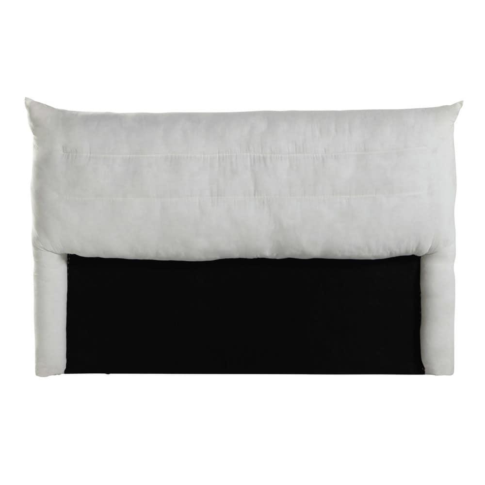 Testata da letto sfoderabile in legno 140 cm soft for Cuscini testata letto maison du monde