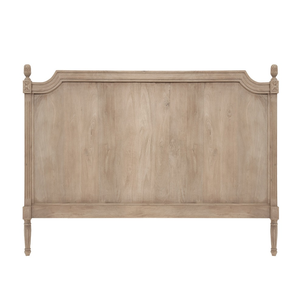 T te de lit 140 bois gris chinon maisons du monde - Tete de lit bois naturel ...
