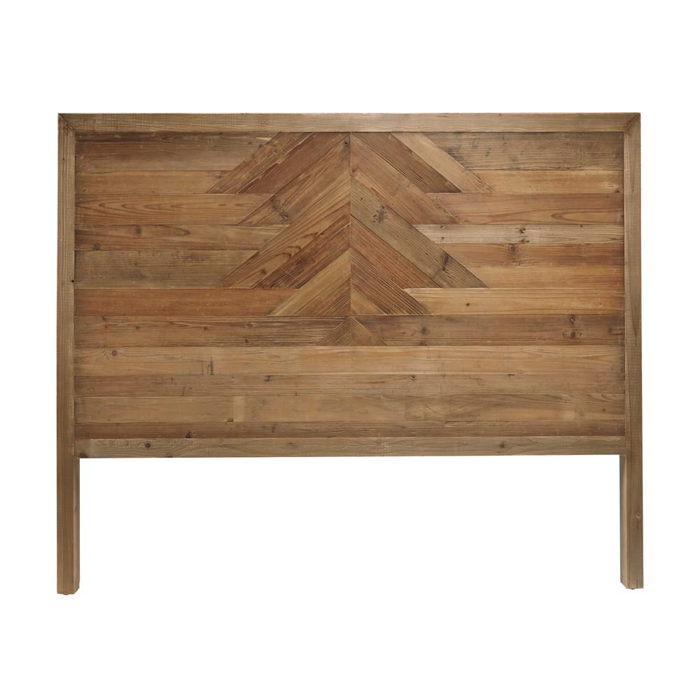 t te de lit 140 en pin recycl lakota maisons du monde. Black Bedroom Furniture Sets. Home Design Ideas