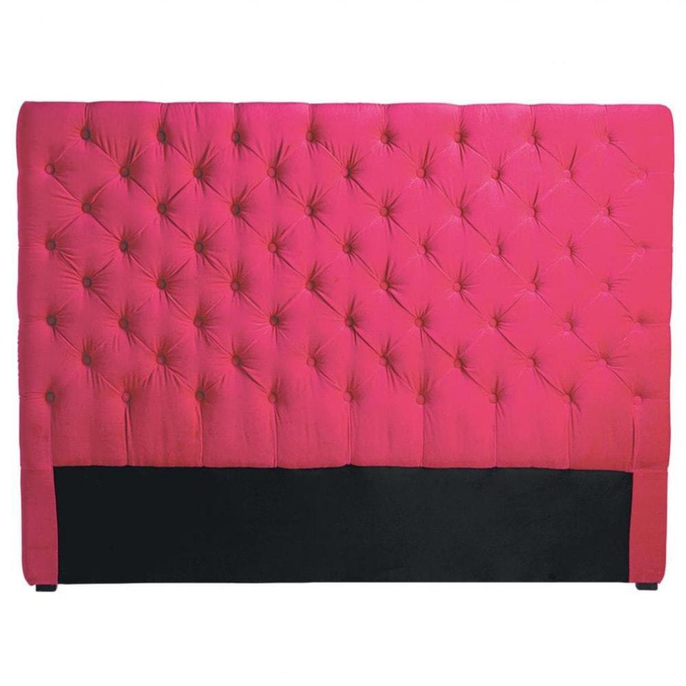 t te de lit 160 cm fuchsia chesterfield maisons du monde. Black Bedroom Furniture Sets. Home Design Ideas