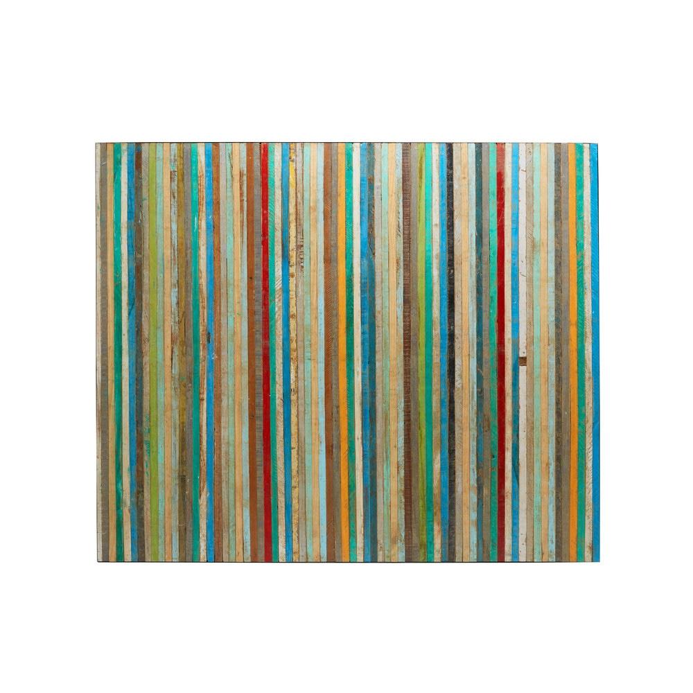 T te de lit 160 en bois recycl s multicolores vieillis bahia maisons du monde - Tete de lit bois 160 ...