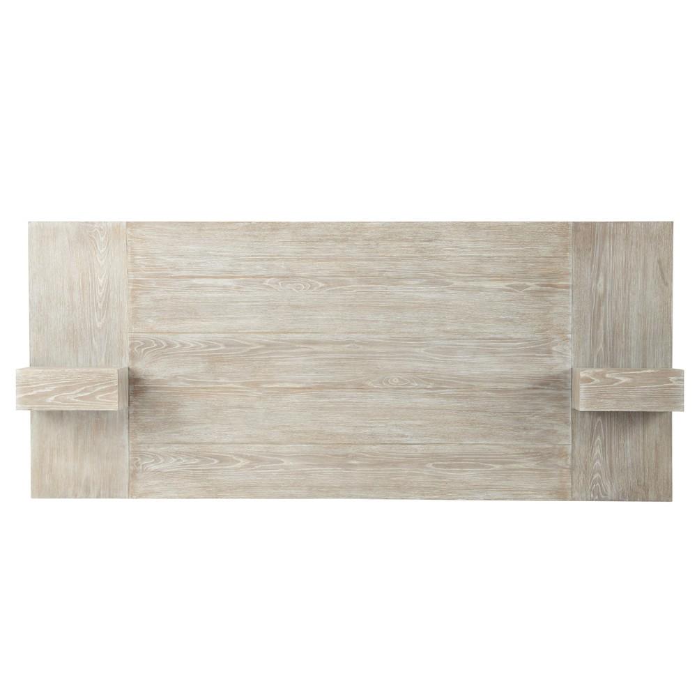 T te de lit en bois l 140 cm baltic maisons du monde - Tete de lit rangement 140 ...