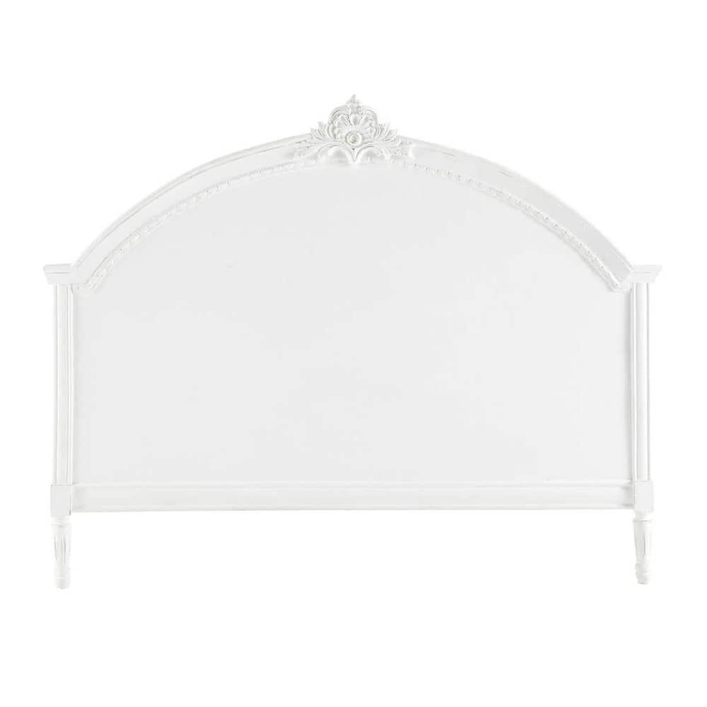 T te de lit en manguier blanche l 160 cm m dicis maisons for Tete de lit chambre ado