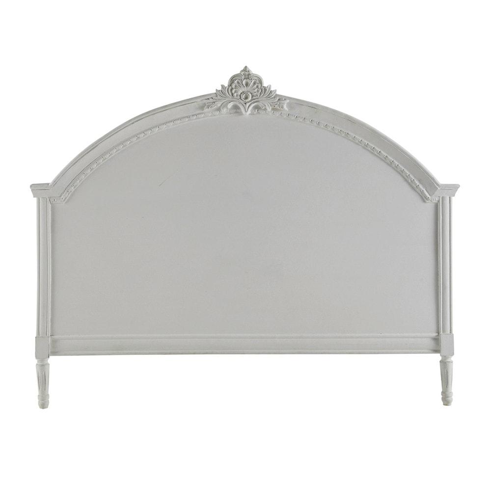 T te de lit en manguier grise l 140 cm m dicis maisons - Maisons du monde tete de lit ...