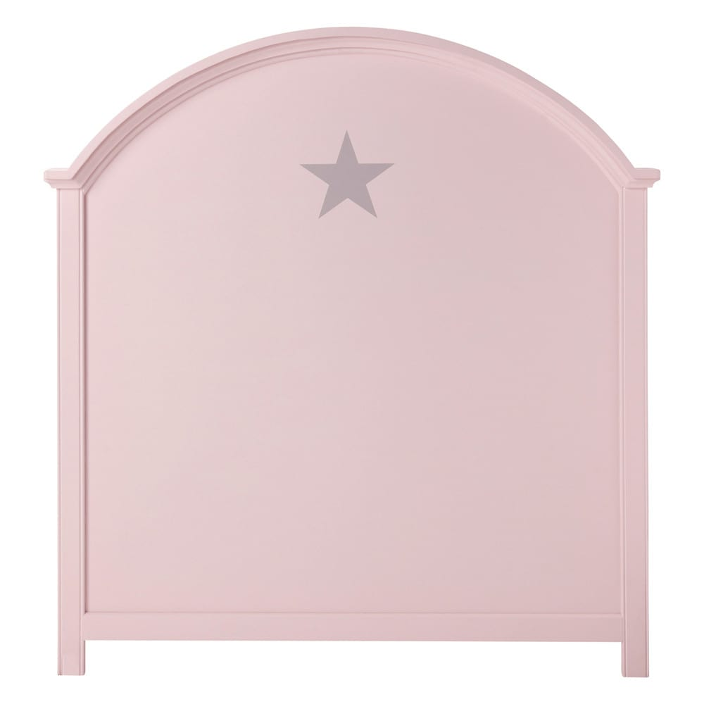 t te de lit enfant 90 cm rose pastel maisons du monde. Black Bedroom Furniture Sets. Home Design Ideas