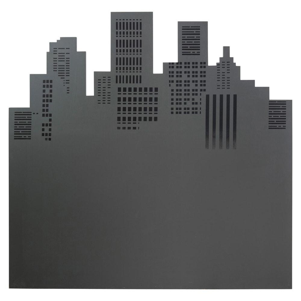 T te de lit grise l 140 cm skywalk maisons du monde - Housse tete de lit 140 ...