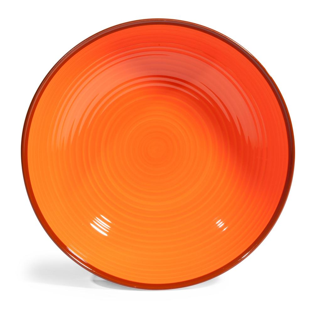 tiefer teller madrid orange gr n maisons du monde. Black Bedroom Furniture Sets. Home Design Ideas