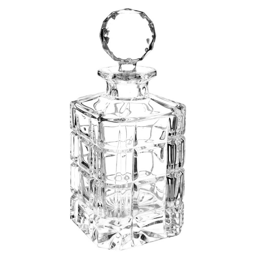interesting times square crystal whisky decanter with flute a champagne maison du monde. Black Bedroom Furniture Sets. Home Design Ideas