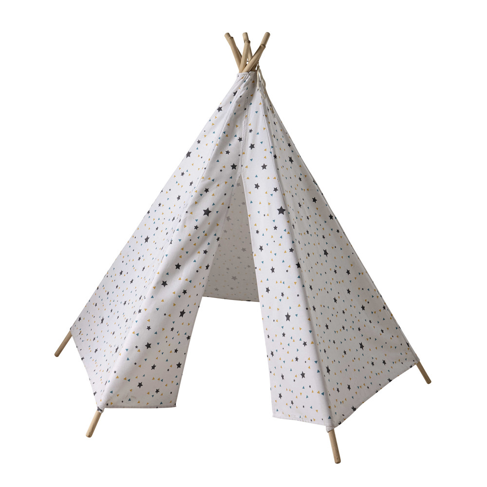 tipi enfant motifs triangles et toiles h 145 cm. Black Bedroom Furniture Sets. Home Design Ideas