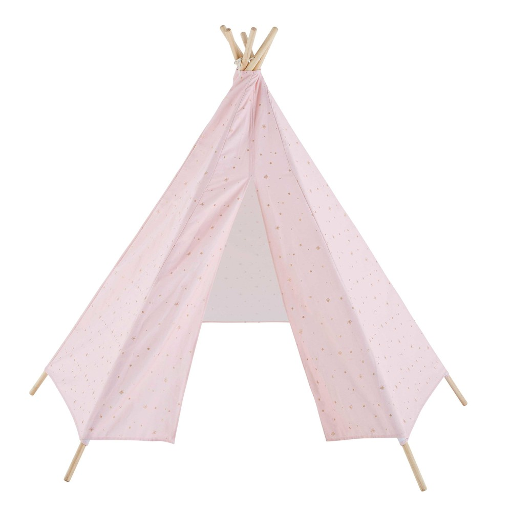 tipi enfant rose p le motifs dor s lilly maisons du monde. Black Bedroom Furniture Sets. Home Design Ideas