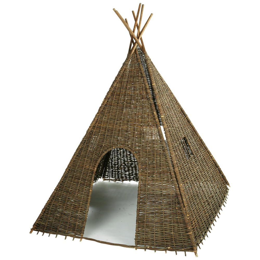 tipi indien en osier tress h 202 cm heyoka maisons du monde. Black Bedroom Furniture Sets. Home Design Ideas