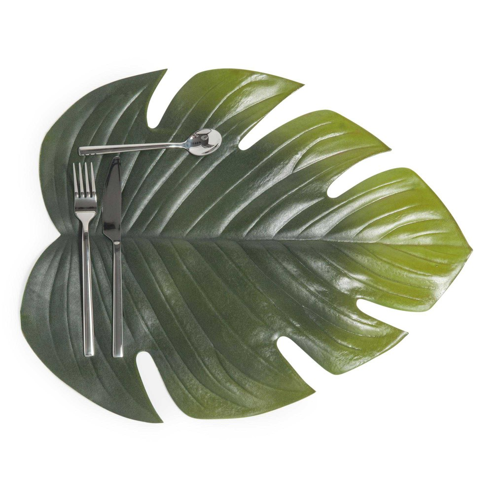 Tischset blatt maisons du monde for Set de table plastifie