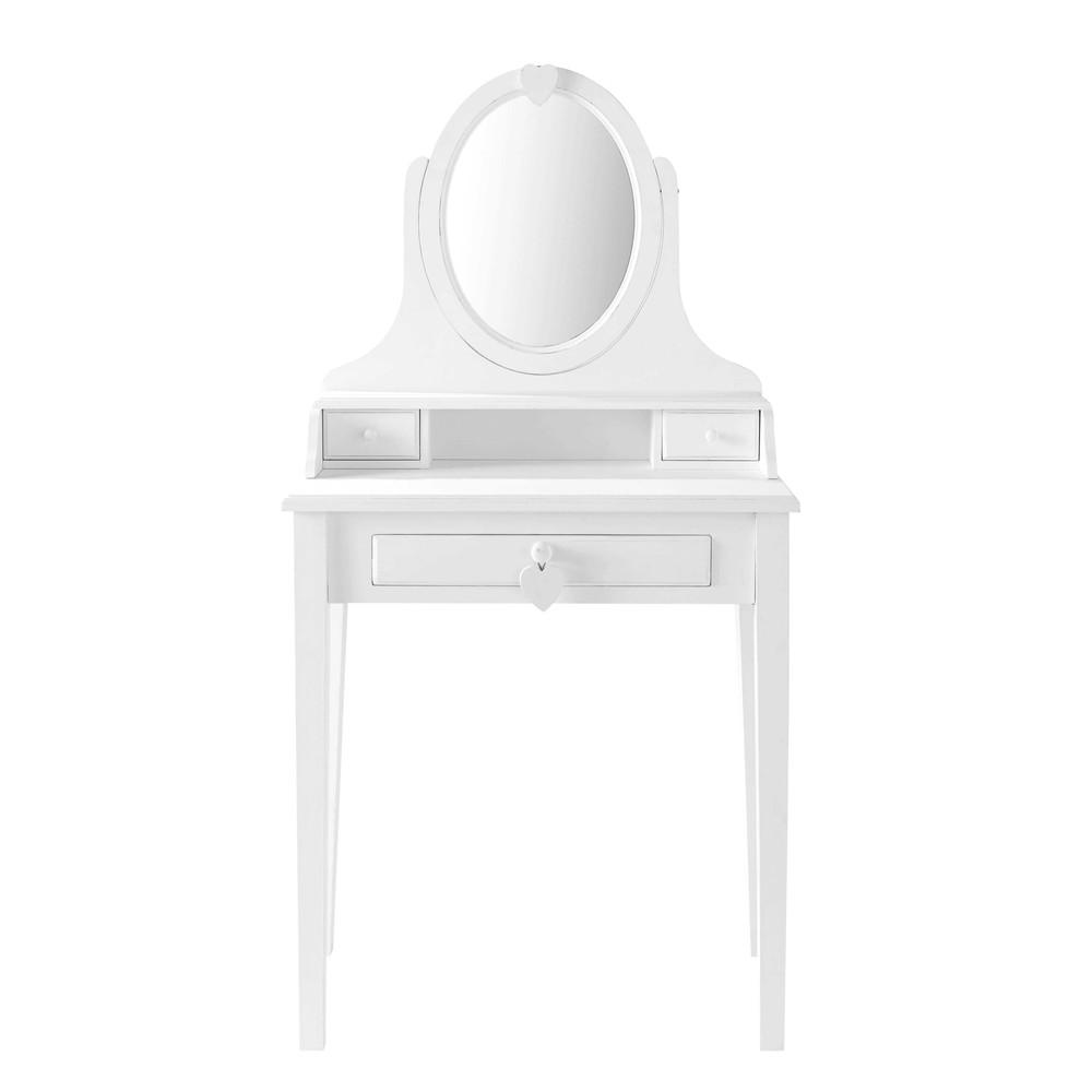 tocador de madera blanco an 70 cm valentine maisons du. Black Bedroom Furniture Sets. Home Design Ideas