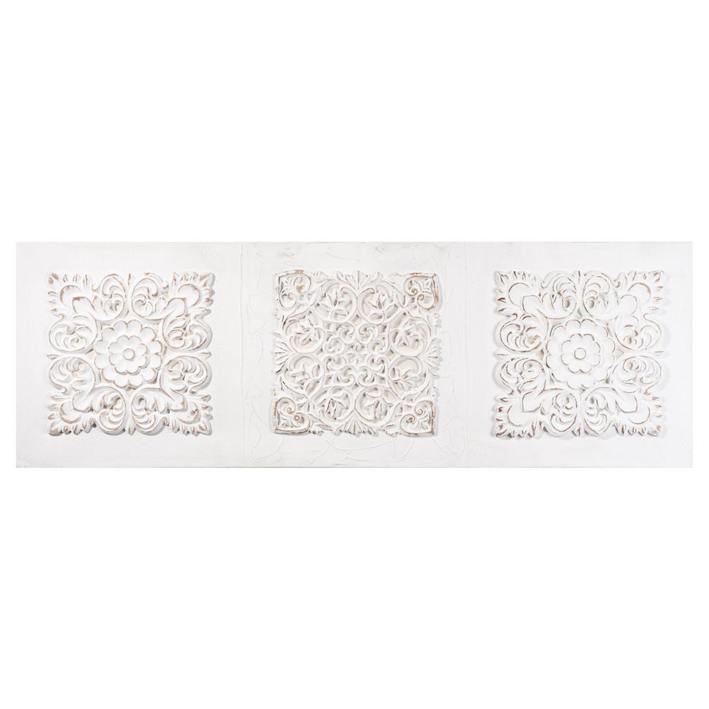 Toile arabesque en polyr sine blanche 120 x 40 cm jaipur maisons du monde - Toile maison du monde ...