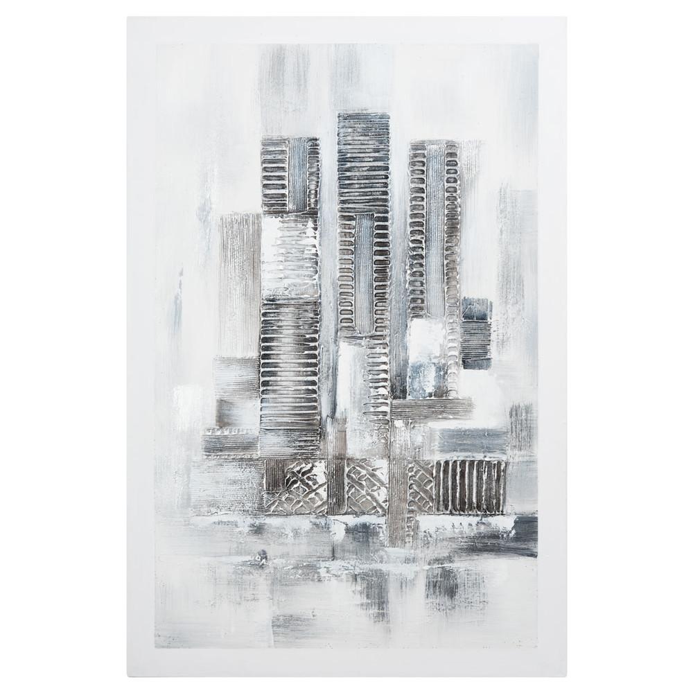 ... décoration › Toiles et tableaux › Toile blanche 60 x 90 cm ARCANE