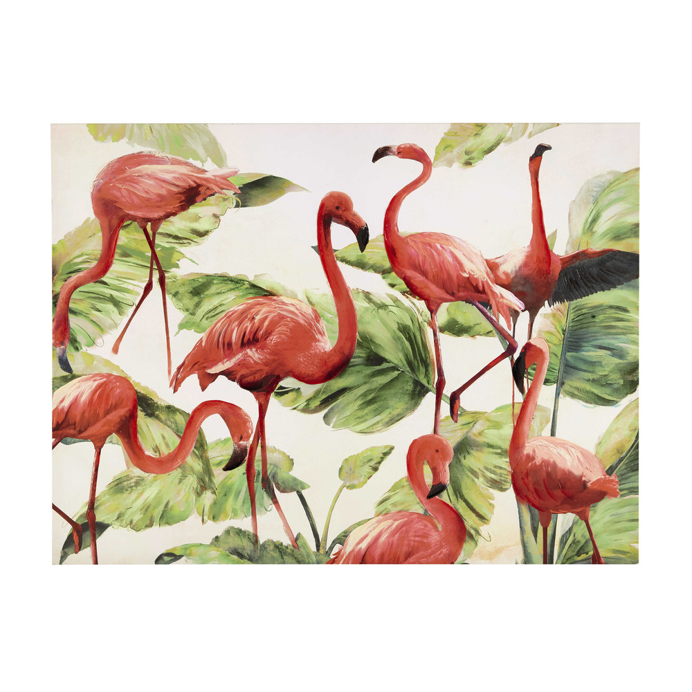 toile flamants roses 90 x 120 cm flamingo maisons du monde. Black Bedroom Furniture Sets. Home Design Ideas