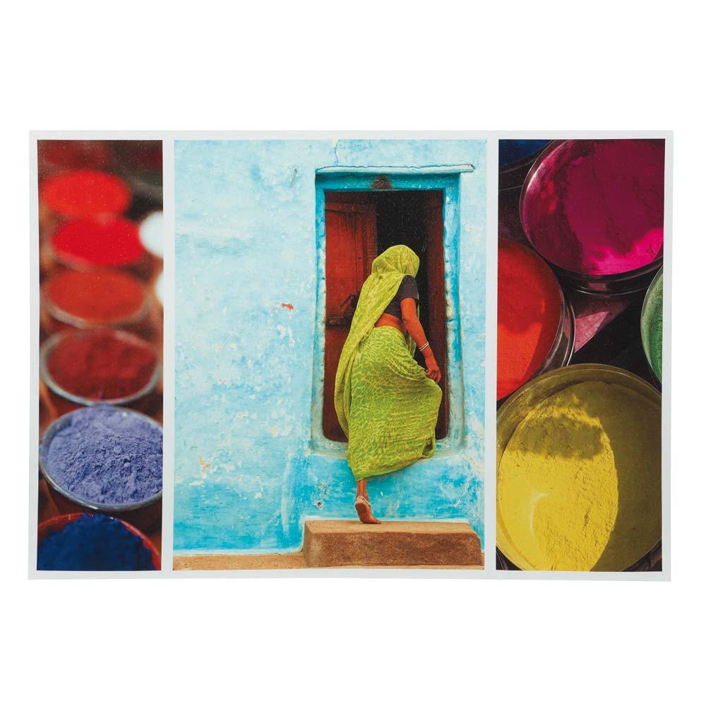 toile indian colors maisons du monde. Black Bedroom Furniture Sets. Home Design Ideas